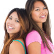 Two beautiful girls posing for the camera — Stock Photo