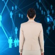 Composite image of asian businesswoman — Stock Photo