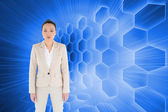 Composite image of unsmiling asian businesswoman — Stock Photo