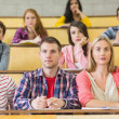 Stock Photo: Concentrating students at lecture hall