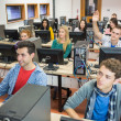 Students in the college computer room — Stock Photo