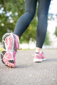 Close up picture of pink running shoes — Stockfoto