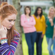 Student being bullied by a group of students — Stock Photo #36174139