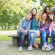 Portrait of young college students in park — Foto de Stock   #36174931