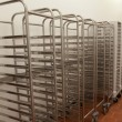 Stockfoto: Picture of baking racks in front of wall