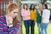 Student being bullied by a group of students — Stock Photo