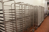 Picture of baking racks in front of wall — Photo