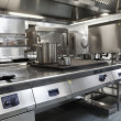 Picture of fully equipped professional kitchen — Stock fotografie