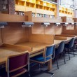 Seats in a row at the college library — Stock Photo #36188757