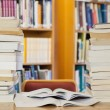 Stock Photo: Stacks of books on desk