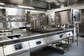 Picture of fully equipped professional kitchen — Stock Photo
