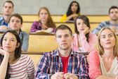 Students at the college lecture hall — Stock Photo