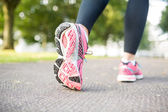 Close up picture of pink sneakers — Stock Photo