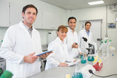 Group of scientists working in the lab — Stock Photo