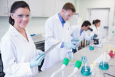 Researchers carrying out experiments in the lab — Stock Photo