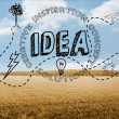 Idea graphic on countryside — Stock Photo