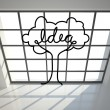 Idea tree in bright room — Stock Photo