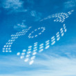Dotted arrows in the sky — Stock Photo