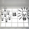 Light bulbs in bright room — Foto de Stock