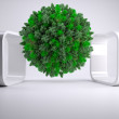 Green natural ball floating — Stock Photo