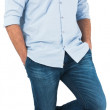 Smiling casual man standing — Stock Photo