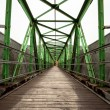 Footbridge with symmetrical metal structure — Stock Photo #36249283