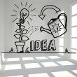 Growing idea graphic in bright room — Stock Photo