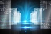 Hologram on futuristic background — Stock Photo