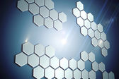 Technological background with hexagons — Stock Photo