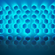 Black background with shiny hexagons — Stock Photo #36250897