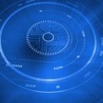 Futuristic blue interface — Stock Photo