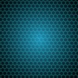 Photo: Black background with shiny hexagons