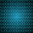 Stock Photo: Black background with shiny hexagons