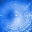 Glowing futuristic binary code spiral — Stock Photo #36252781