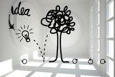 Gráfico árbol idea luminosa sala — Foto de Stock