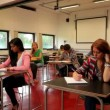 Stock Video: Students sitting in a classroom