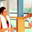 Sporty slender friend chatting — Wideo stockowe #36278397