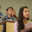 Students listening carefully in lecture hall — Stock Video