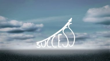 Success graphic growing — Stock Video