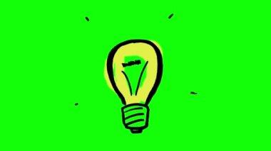 Fast gestating light bulb — Stock Video