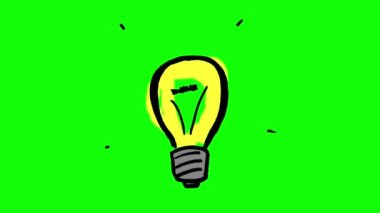 Animation of fast gestating yellow light bulb — Stock Video