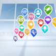 Computing application icons — Stock Photo #38455551