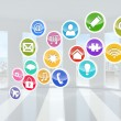 Computing application icons — Stock Photo #38456643