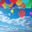 Stock Photo: Balloons in sky