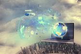 Global technology background — Stock Photo