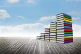 Book steps against sky — Foto Stock
