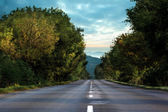 Open road background — Stock Photo