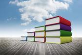 Book steps against sky — Stock Photo