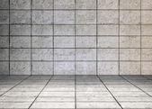 šedý pokoj — Stock fotografie
