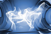 Abstract linear design in blue and white — Stock Photo